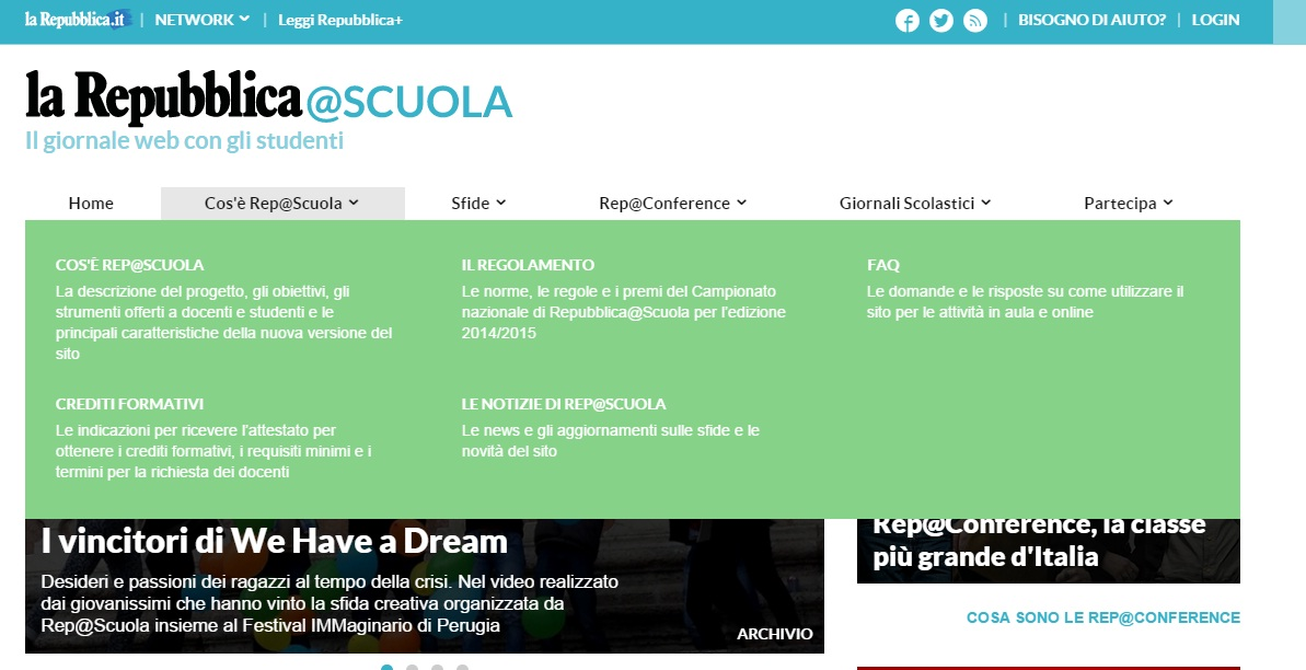 La Repubblica Giornale web  - Classe 2.0